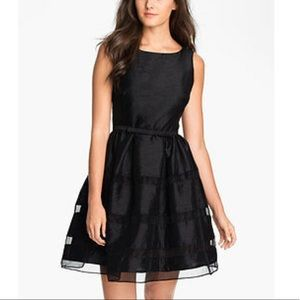 Taylor | Tonal Stripe Fit and Flare Dress